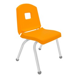 Split-Bucket Preschool Chair - Yellow