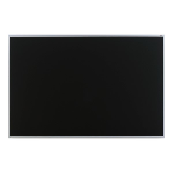 Deluxe Porcelain Steel Magnetic Chalkboard w/ Aluminum Frame - Shown w/ Black Board