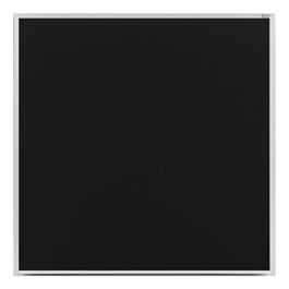 Deluxe Porcelain Steel Magnetic Chalkboard w/ Aluminum Frame - Shown with Black Board