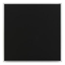 Deluxe Porcelain Steel Magnetic Chalkboard w/ Aluminum Frame - Shown with Black Board