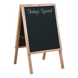 "Black Chalkboard w/ Today\'s Special Café Sidewalk Sign (22"" W x 36\""H) - Oak Frame"