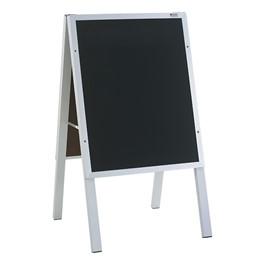"Black Chalkboard Café Sidewalk Sign (22\""W x 36\""H) - Aluminum Frame"