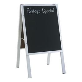 "Black Chalkboard w/ Today\'s Special Café Sidewalk Sign (22\""W x 36\""H) - Aluminum Frame"