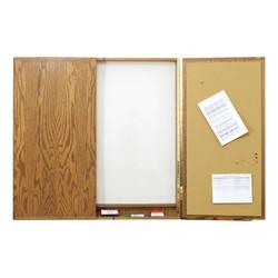 Contemporary Conference Cabinet w/ Markerboard & Bulletin Board