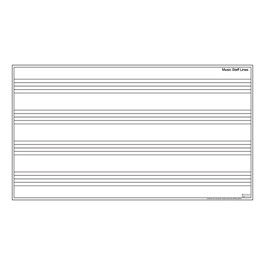 Music Staff Whiteboard w/ Aluminum Frame