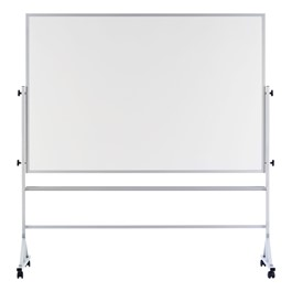 Double-Sided Portable Magnetic Dry Erase Board w/ Aluminum Frame