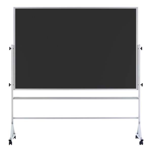 Double-Sided Mobile Chalkboard w/ Aluminum Frame - Black Chalkboard