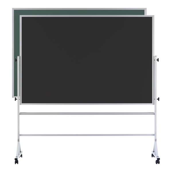 Double-Sided Mobile Chalkboard w/ Aluminum Frame - Green and Black Chalkboard