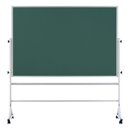 Double-Sided Mobile Chalkboard w/ Aluminum Frame - Green Chalkboard