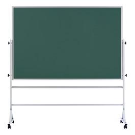 Double-Sided Mobile Chalkboard w/ Aluminum Frame - Green Chalkboard