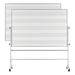 Double-Sided Music-Lined Reversible Markerboard