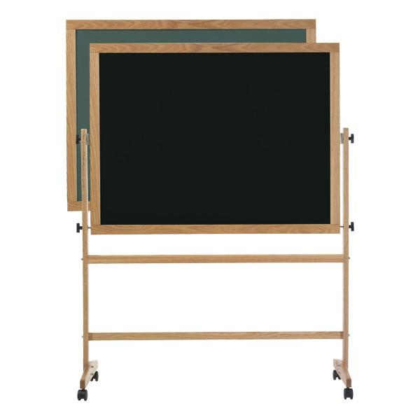Double-Sided Mobile Chalkboard w/ Wood Frame - Green and Black Chalkboard