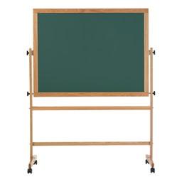 Double-Sided Mobile Chalkboard w/ Wood Frame - Green Chalkboard