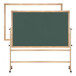 Magnetic Markerboard/Chalkboard w/ Wood Frame
