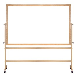 Double-Sided Portable Dry Erase Board w/ Wood Frame