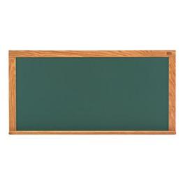 Deluxe Porcelain Steel Magnetic Chalkboard w/ Wood Frame - Shown w/ Green Board