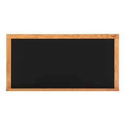 Deluxe Porcelain Steel Magnetic Chalkboard w/ Wood Frame - Shown w/ Black Board