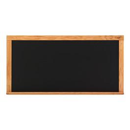 Deluxe Porcelain Steel Magnetic Chalkboard w/ Wood Frame - Shown w/ Black Board