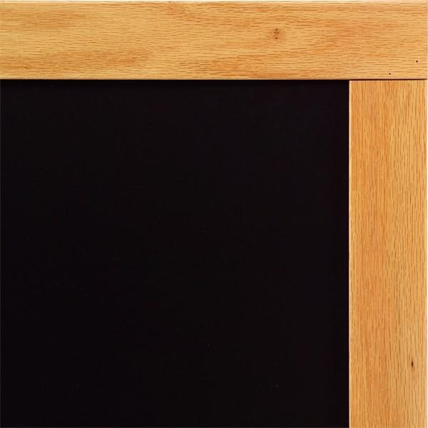 Deluxe Porcelain Steel Magnetic Chalkboard w/ Wood Frame