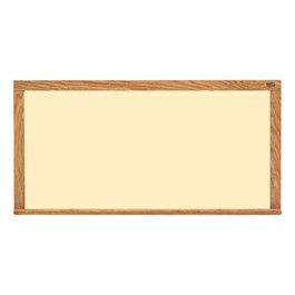 Color Pro-Lite Magnetic Markerboard w/ Wood Frame - Shown in almond