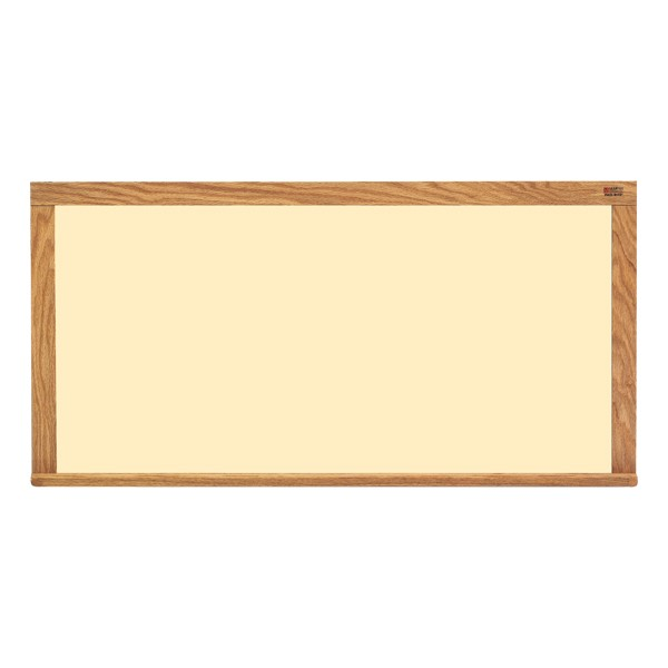 Pro-Lite Magnetic Markerboard w/ Wood Frame - Shown in almond