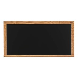 Color Pro-Lite Magnetic Markerboard w/ Wood Frame - Shown in black