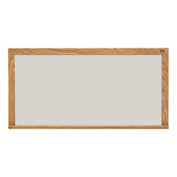 Pro-Rite Magnetic Markerboard w/ Wood Frame - Shown in silver