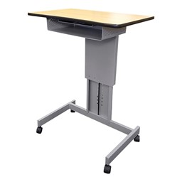 Focus Pneumatic Sit-to-Stand Desk XT w/ Book Box
