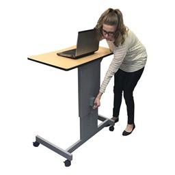 Focus Pneumatic Sit-to-Stand Desk XT - Lift