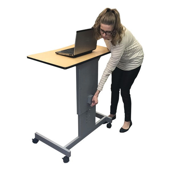 Focus Pneumatic Sit-to-Stand Desk XT w/ Book Box - Lift
