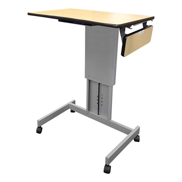Focus Pneumatic Sit-to-Stand Desk XT w/ Side Shelf