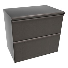 """Zapf Lateral File w/ Two Drawers (30\"""" W) - Dark Neutral"""