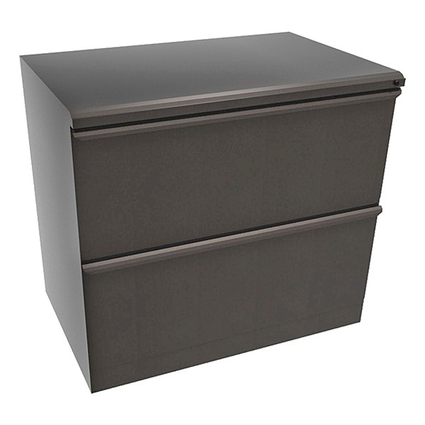 """Zapf Lateral File w/ Two Drawers (30"""" W) - Dark Neutral"""