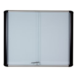 Enclosed Magnetic Dry Erase Board w/ Sliding Doors