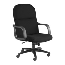 Comfort Series Big & Tall Executive Chair - Fabric Upholstery - Black