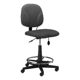 Comfort Series Swivel Task Stool - Gray