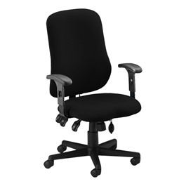 Comfort Series Contoured Support Chair - Black