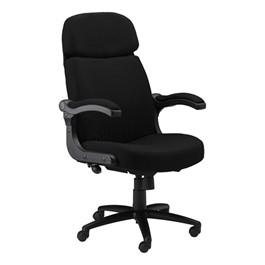 Comfort Series Big & Tall Pivot Arm Chair - Fabric Upholstery - Black