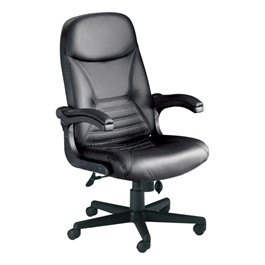 Comfort Series Big & Tall Pivot Arm Chair - Leather Upholstery