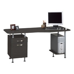 Espresso Series Computer Desk w/ Pedestal – Shown in anthracite gray