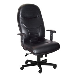 Comfort Series Executive High-Back Chair - Leather Upholstery