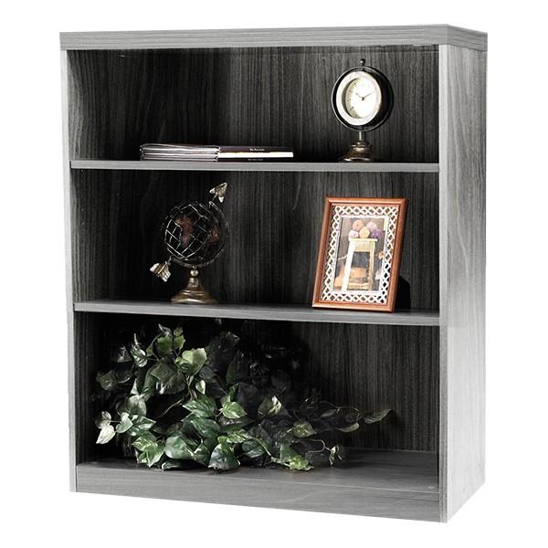 Aberdeen Series Bookcase – Three Shelves - Gray woodgrain