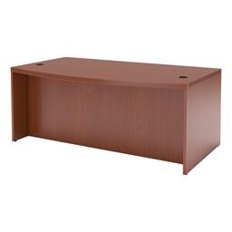 Aberdeen Series Bow Front Desk - Cherry