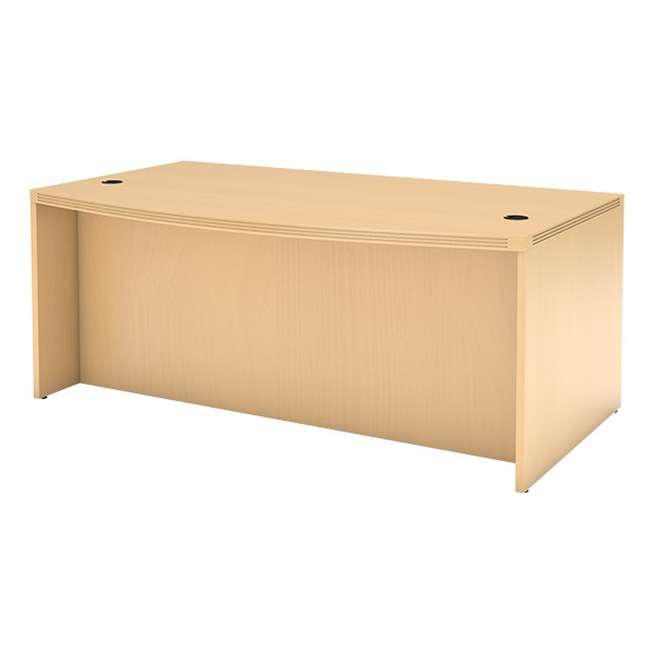 Aberdeen Series Bow Front Desk - Maple