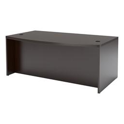 Aberdeen Series Bow Front Desk - Mocha