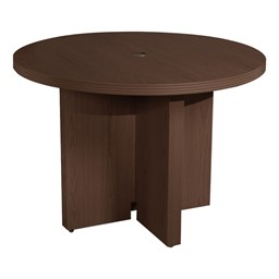Aberdeen Series Round Conference Table - Mocha