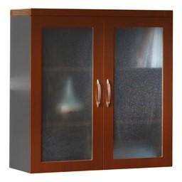 Aberdeen Series Glass Display Cabinet - Cherry
