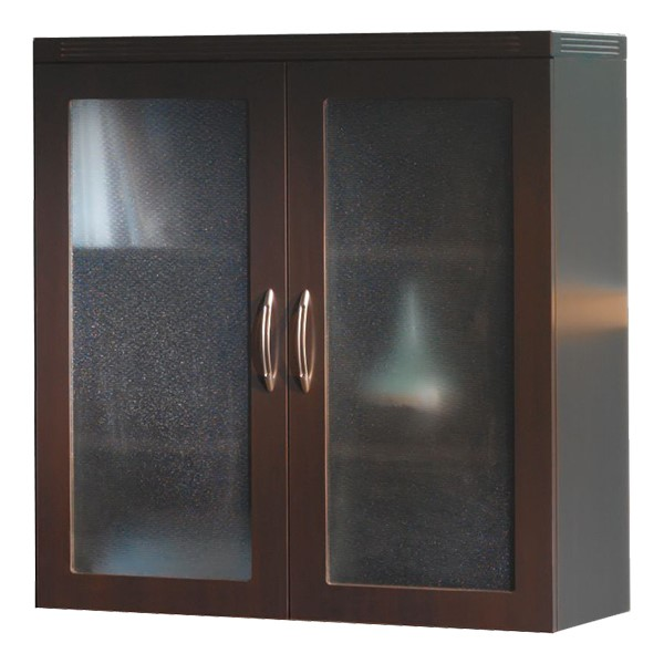 Aberdeen Series Glass Display Cabinet - Mocha
