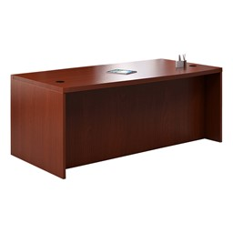 Aberdeen Series Straight Front Desk - Cherry