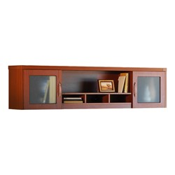 Aberdeen Series Wall Mount Hutch - Cherry